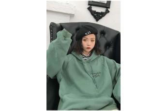Grayed jade Oversized hoodie