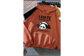Mecca Orange panda love hoodie