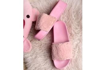 Girl in pink sliders