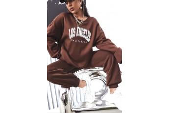 Set of 2- Cinnamon oversize sweatshirt with jogger