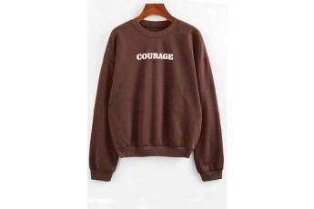 Cinnamon Drop Shoulder Graphic Sweatshirt