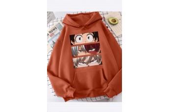 Mecca Orange Anime print hoodie