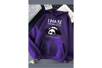 Prism Violet oversize panda hoodie
