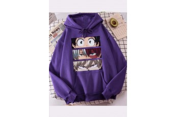 Prism Violet Anime print hoodie