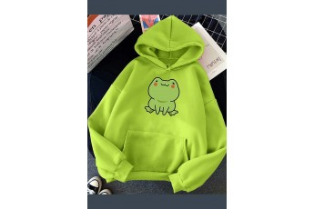 Bright lime green hoodie
