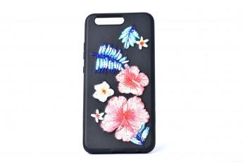 Huawei P10 Phone Floral Black Case