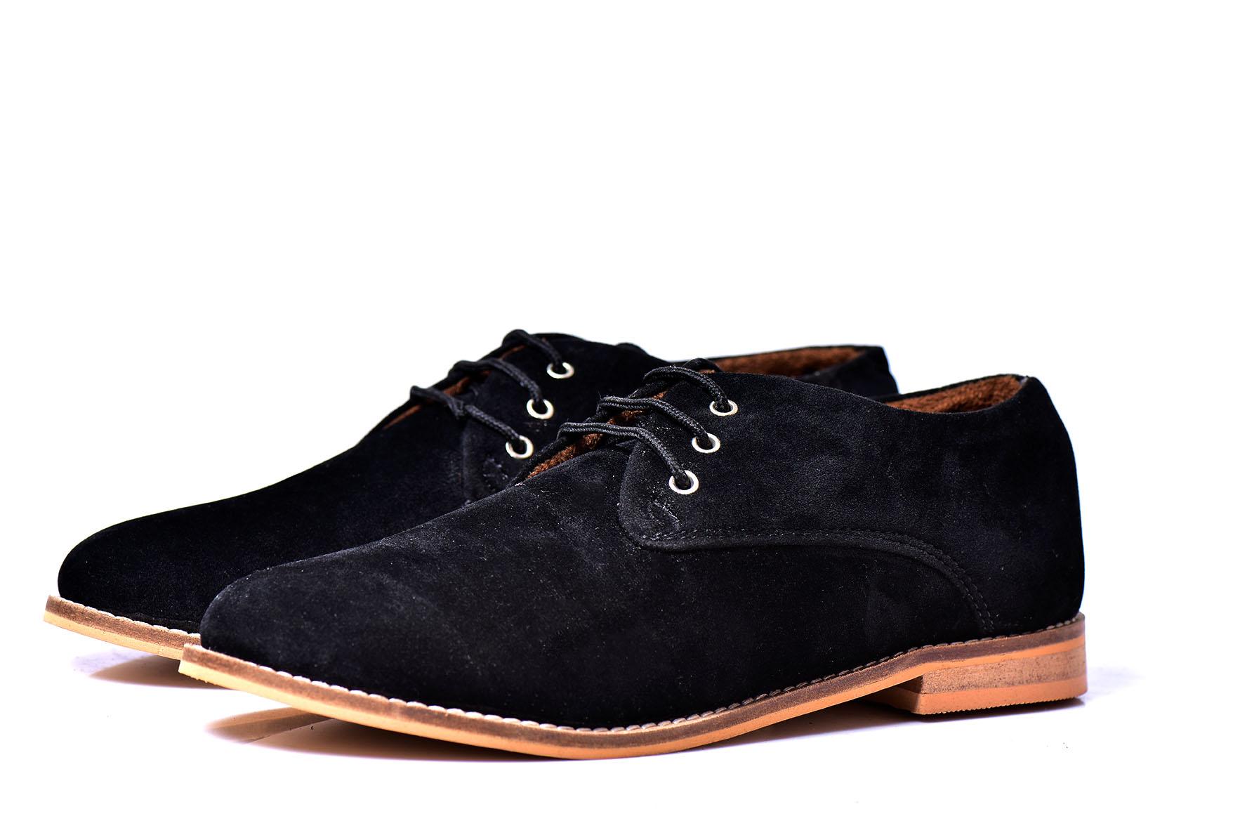 black sole shoes