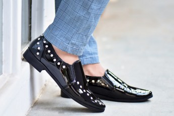 Studded Black casual Shoe