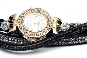 Womens - Black stone watch
