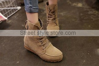 Motorcycle Ankle Boots-brown
