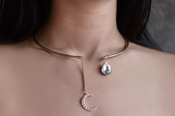The Sky Moon Collar Necklace