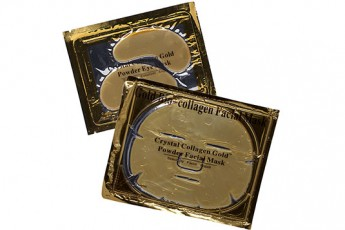Set- Crystal Gold Powder eye mask and Crystal collagen Gold powder facial mask